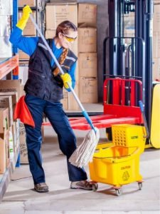 mopping commercial floor