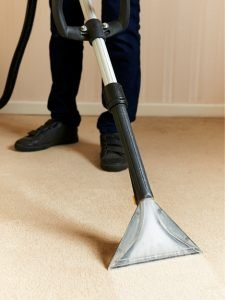 vacuuming commercial carpet